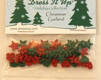 Assortment of 40 novelty buttons - Christmas wreath