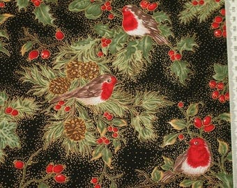 """Fabric freedom """"Merry Christmas Collection"""" 03 embroidery - Robin"""