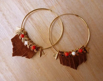 Inca inspired hoop earrings