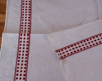 Antique C. 1920 French Dish Towel Organic Linen Tea Towel
