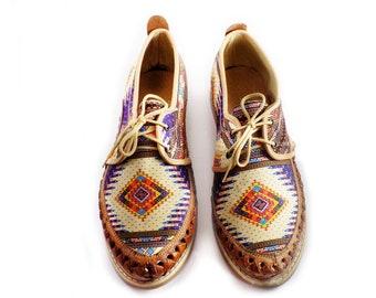 huaraches chaleco aztec