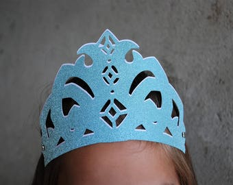 Glitter crown, Pack of 3