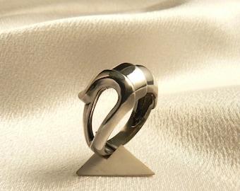 Silver tortoise shell ring