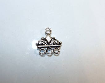Chandelier or triangular separator 3 row Sterling first title. Decor diamond (2440769)