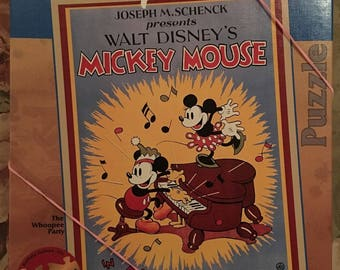 """Disney Mickey Mouse """"The Whoopee Party"""" Vintage Posters Puzzle - VG / 1000 pc"""