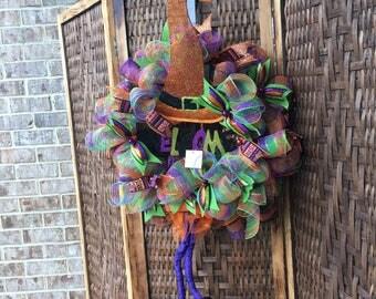 "Halloween mesh wreath 30"""