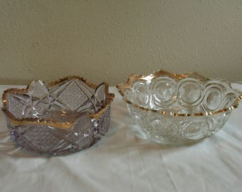 Antique cut glass ware