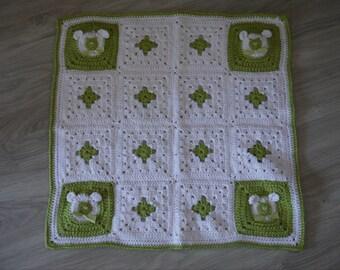 crochet bear pattern baby blanket