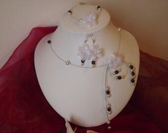 chocolate and ivory wedding dress