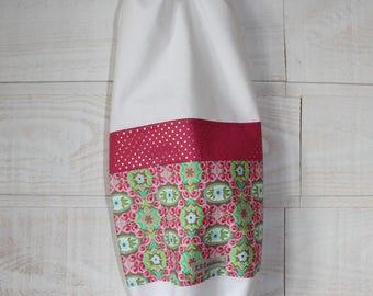 Bag bags (No. 56) cotton fabric & white roses