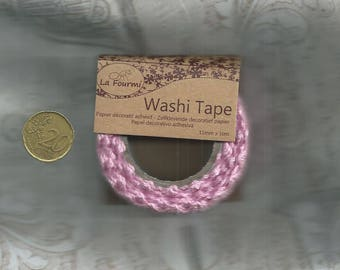 Pink cotton lace tape 15mm x 2 meters