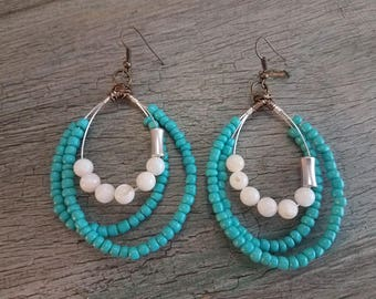 3 Strand Boho Inspired Earrings
