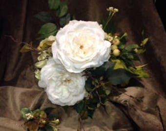 Silk Flower Wild Rose Bouquet
