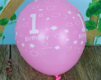 5 balls pink or blue for birthday 1 year