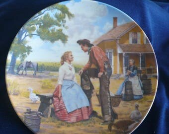 """Vintage Bradford Exchange Collectible Plate (circa 1985) - """"Oh What a Beautiful Mornin"""" - Mort Kunstler, Rodgers and Hammerstein"""