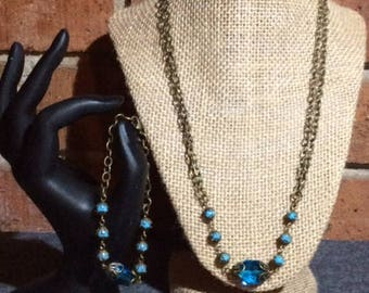 Robin Eggs Blue Swarovski Crystal Jewelry Set