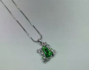 Frog Necklace - Green