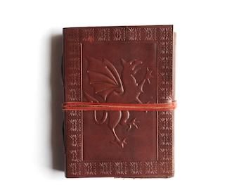 Leather Journal Diary, Dragon Leather Journal, Journal Notebook Diary Mandala notebook sketchbook Handmade Brown Notebook Handmade Paper