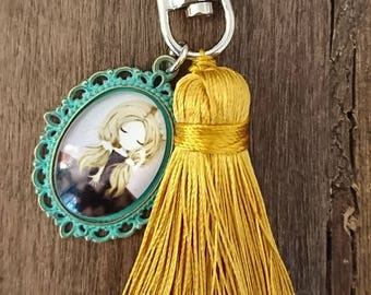 """Jewelry bags / keychain """"Des Coquettes"""" - green / Bronze"""