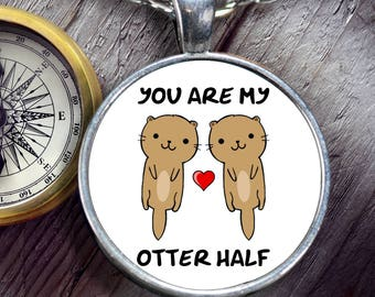 Otter Necklace - Gift for Wife - Cute Otter Gift - Otter Jewelry - Otter Gift for Women - Otter Valentines Gift - Otter Anniversary