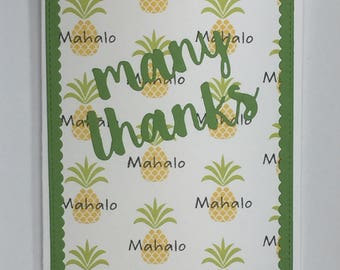 Many Thanks, Mahalo Thank You Card