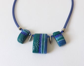 Blue and green fashion necklace elegant and original