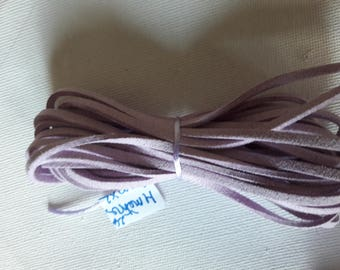 4metres of light purple suede cord