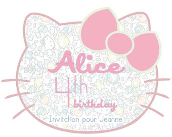 For a Hello Kitty birthday invitation card