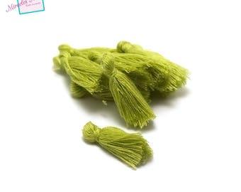 10 25 mm, olive green cotton tassel