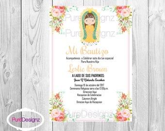 Virgen de Guadalupe Invitation, Virgencita Invitation, Virgen Invitation, Invitaciones Virgen de Guadalupe,