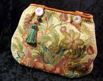 vintage floral velvet purse
