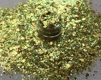 Fools Gold (chunky glitter, fine glitter, festival glitter, holographic glitter)
