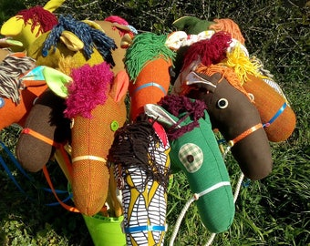 Hobby horse, horse with wooden stick