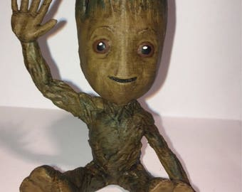 Guardians of the Galaxy Baby Groot 3D Printed and Hand Painted Model!
