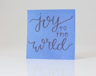 Joy to the World Glitter Quote