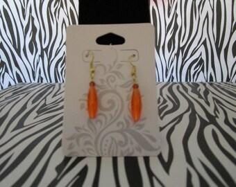 Orange Shaded Earrings