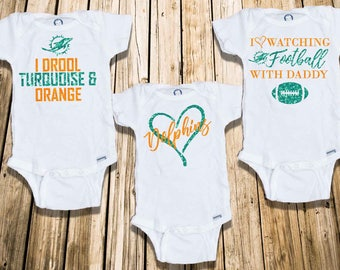 Miami Dolphins Onesie, Baby Girl Onesie