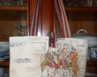 Tote beige and Burgundy size medium