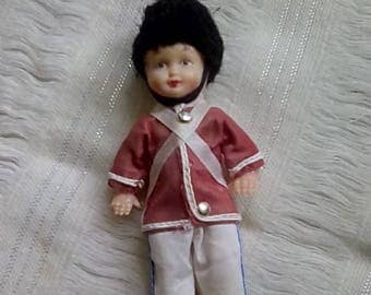 Sweet little celluloid soldier doll, collectors circa 1950's.