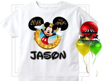 Mickey Mouse Magic Disney Cruise Shirt, Personalized Shirt, Matching shirts, Toddler Youth Adult  (mc259)