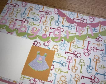 Baby Girl Pre-Made Scrapbook Pages