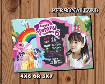 My Little Pony Invitation,My Little Pony Birthday Invitation,My Little Pony,My Little Pony Birthday Party,My Little Pony Birthday Invite