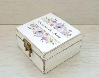 Wooden ring box, Wedding ring box, Rustic ring box, Proposal ring box, Ring bearer box, Personalized wedding box, Custom ring holder