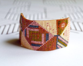 "Bracelet woven with Miyuki beads / ""Samara"""
