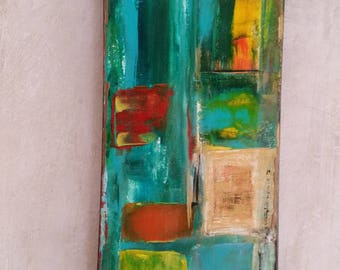 abstract painting acrylic bright colors l