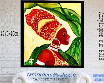 African Art village women