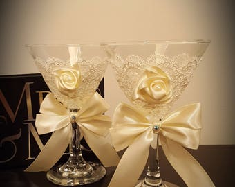 Hand Made Martini Glasses
