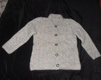 Manually knitted girl jacket