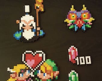 Zelda characters in pearls hama, perler beads, Pixel art Perler beads