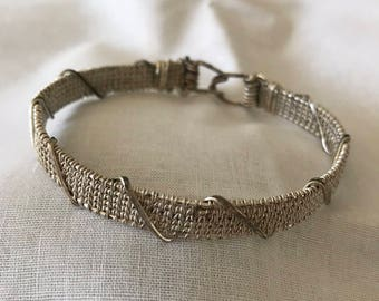 Gift for Him, Silver Plated Wire Bracelet